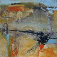 Abstract Landscape in Blue and Orange