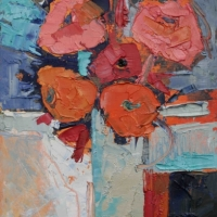 Flowers in Pink and Orange II