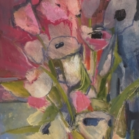 Poppies and Tulips, Oil on Board, 51cm x 38cm, £1,250