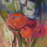 Peonies and Poppies, Oil on Board, 51cm x 38cm, £1,250
