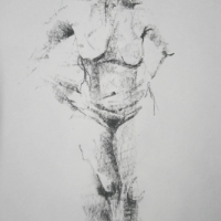 Nude in Charcoal 1